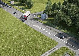 (©Kanton Aargau) Visualisierung K 265 Einfahrt Industriestrasse