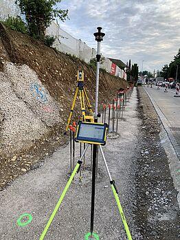 Othmarsingen: Lärmschutzwand Kehrgasse - Kontrolle Absteckung Schalung