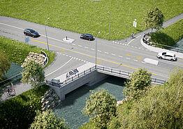 (©Kanton Aargau) Visualisierung K 265 neue Bünzbrücke mit Mattenhofwegbrücke