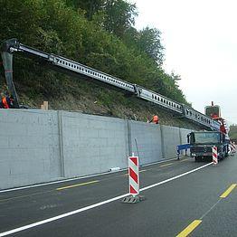 Brugg - Schinznach-Bad K 112: Hinterfüllung Stützmauer