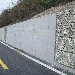 Brugg - Schinznach-Bad K 112: Stützmauer