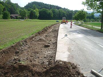 Birrhard - Wohlenschwil IO/AO K 269: Sanierung Birrfeldstrasse - Planie