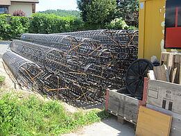 Othmarsingen: Lärmschutzwand Kehrgasse - Bewehrung Pfähle