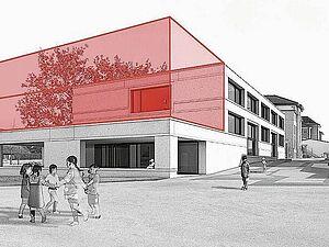 Lenzburg: Schulhaus Mühlematt Etappe 2