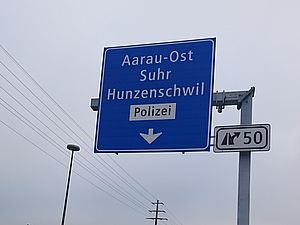 Aarau Ost bis Birrfeld Autobahn N01: Verlängerung Ein- und Ausfahrt
