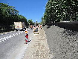 Othmarsingen: Lärmschutzwand Kehrgasse - Spritzbeton
